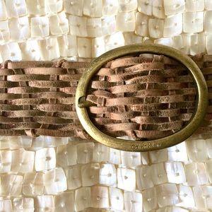 Calvin Klein Boho Woven Leather Belt